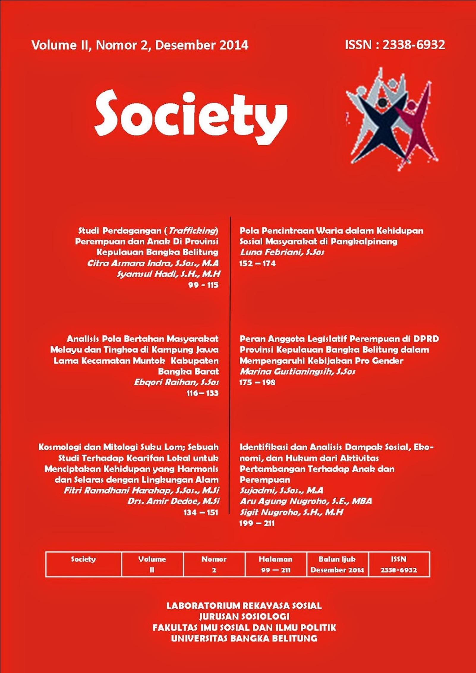 Jurnal Society Volume 2 Nomor 2#Desember 2014