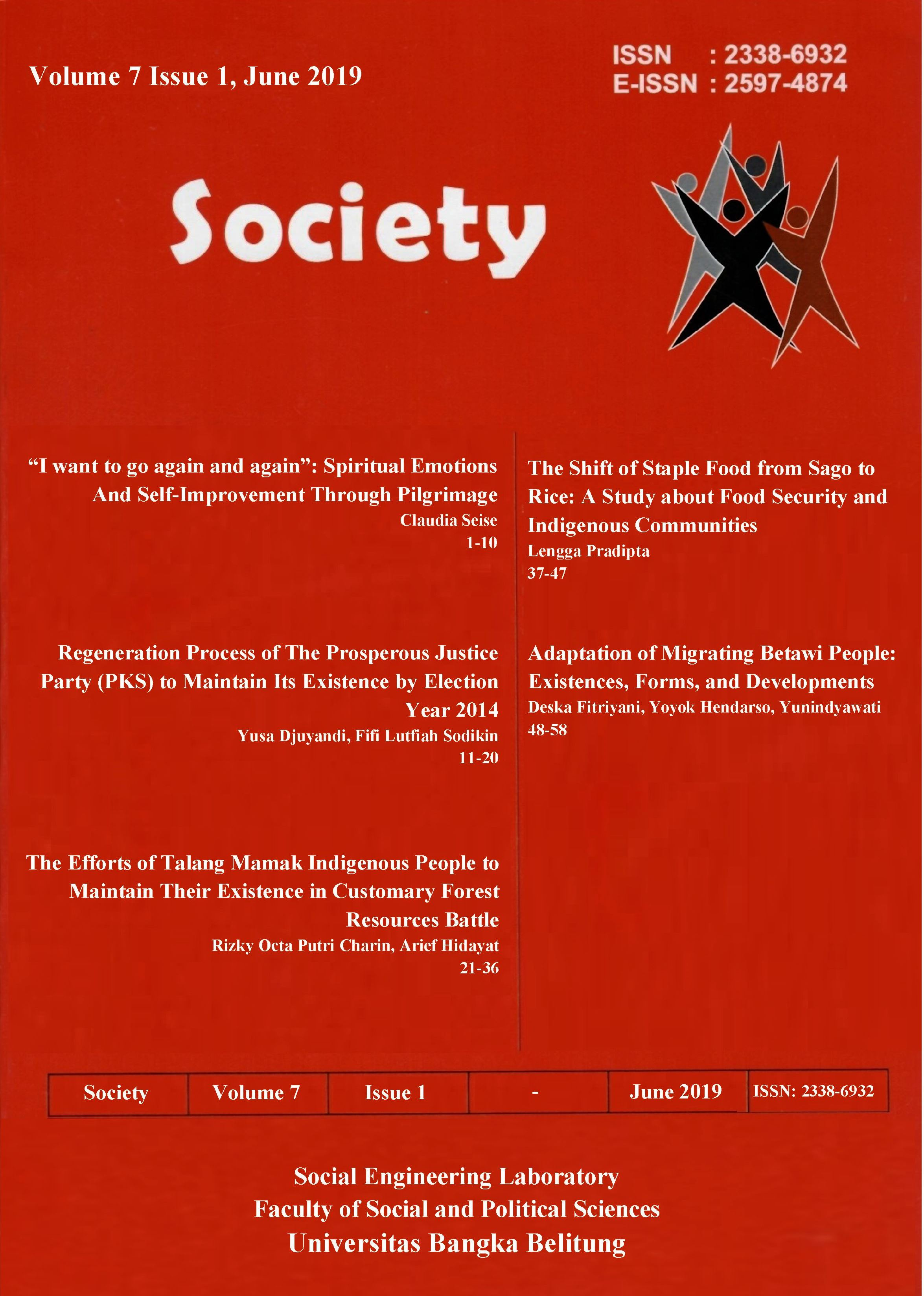 Society Volume 7 Issue 1#2019