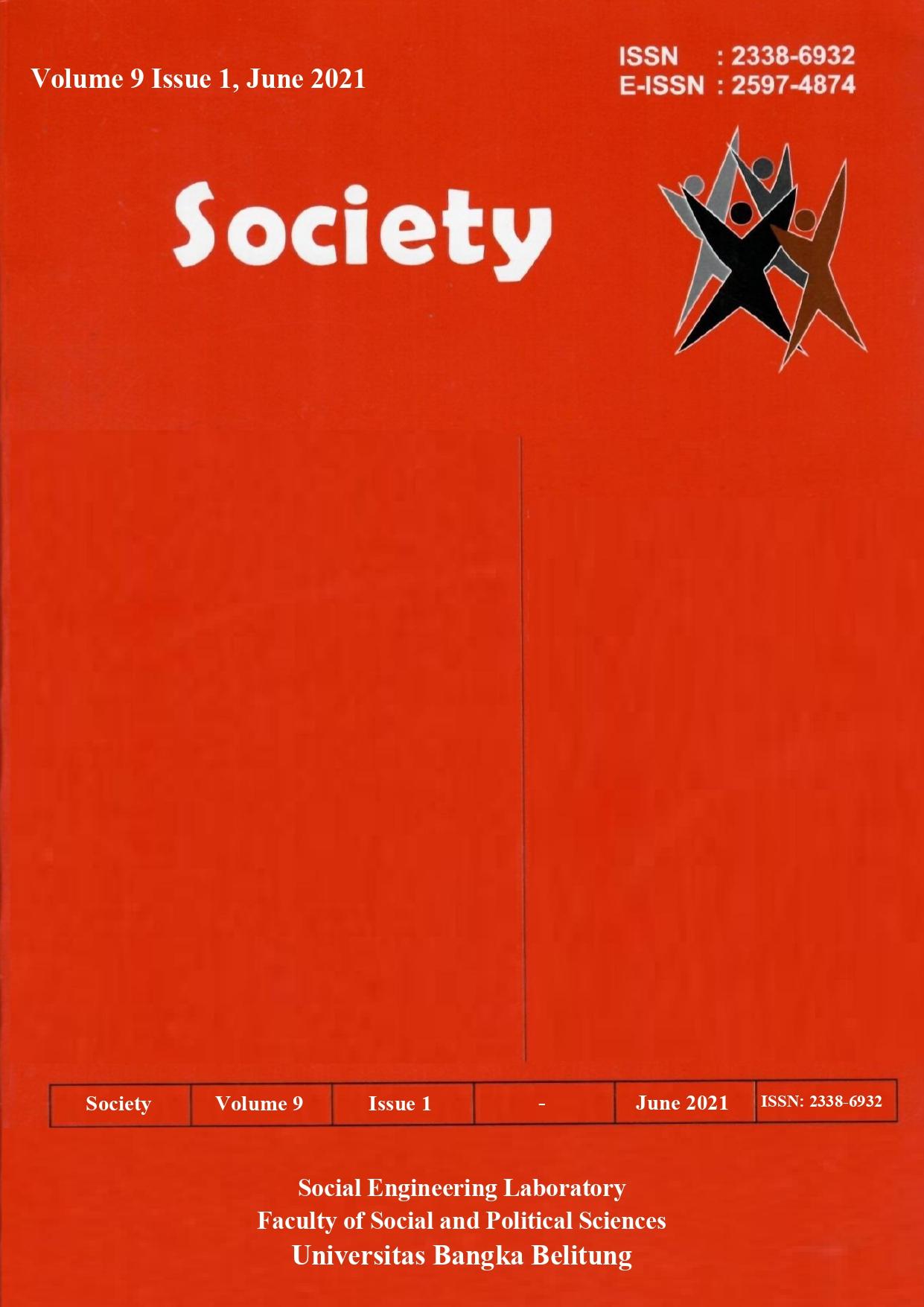 Society Volume 9 Issue 1#2021