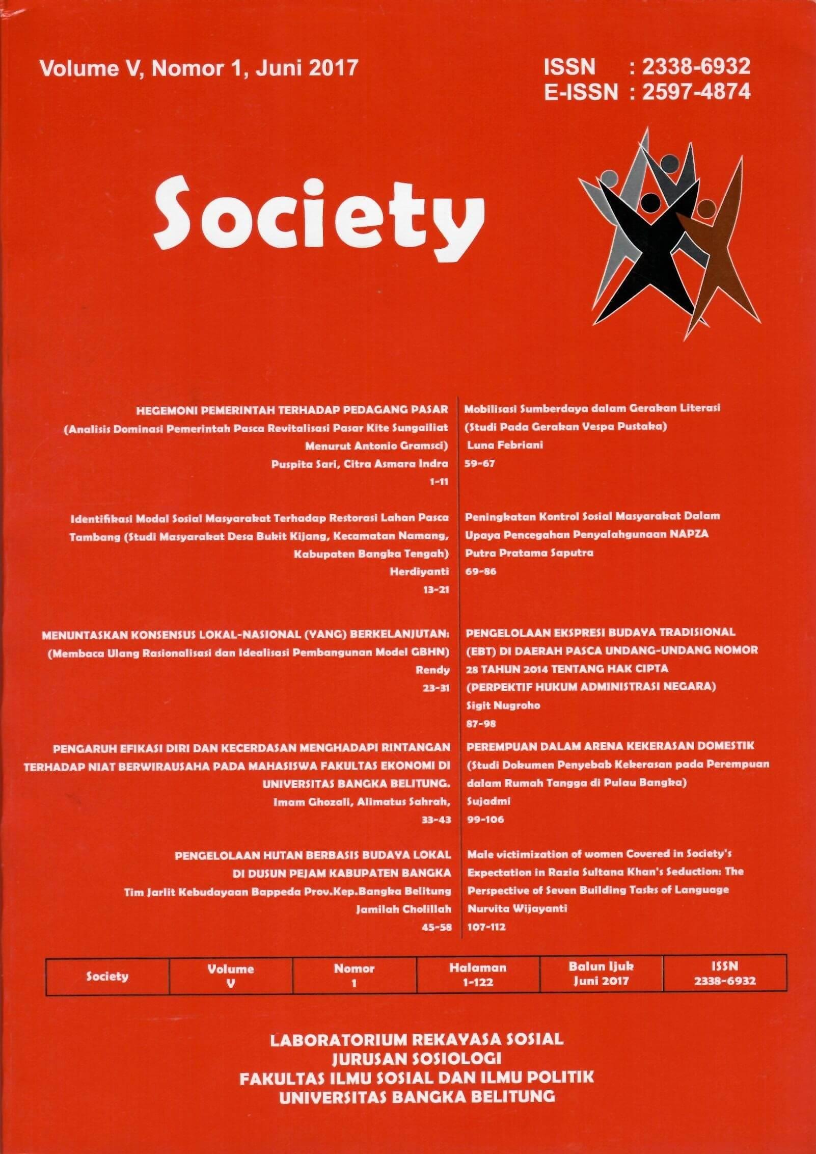 Jurnal Society Volume 5 Nomor 1#Juni 2017