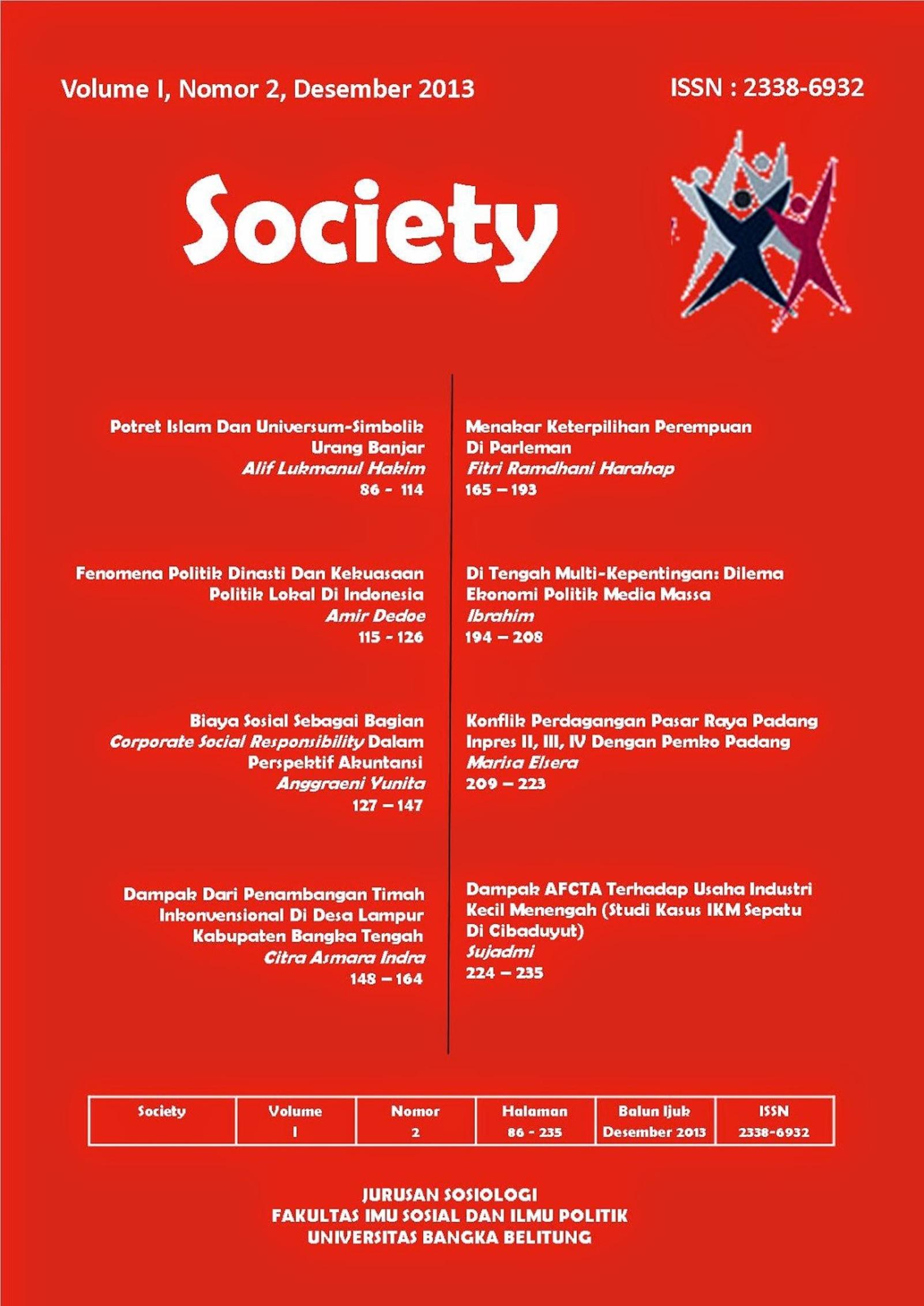 Jurnal Society Volume 1 Nomor 2#Desember 2013